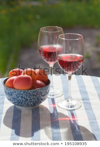 chilled orange wine outside Stock photo © travelphotography