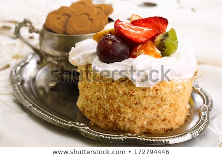 christmas stollen cake on a metal tray stock photo © rob_stark
