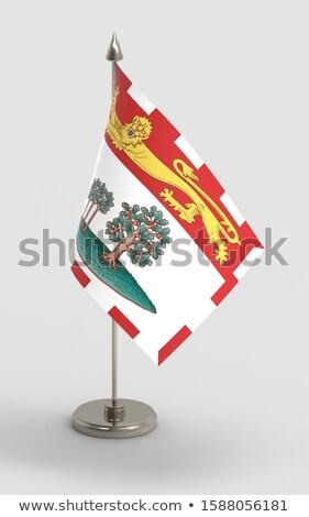 Miniatura bandera isla del príncipe eduardo aislado fondo Foto stock © bosphorus