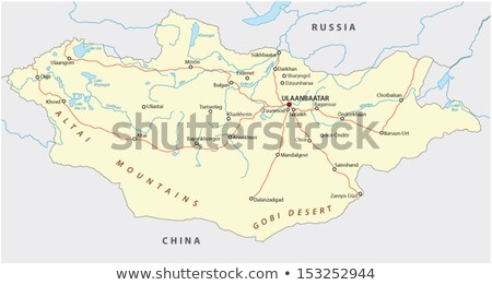 Black Mongolia map Stock photo © Volina