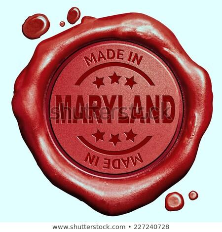 メリーランド州 スタンプ 赤 ワックス シール 孤立した ストックフォト © tashatuvango