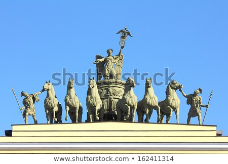 sculptural group on Arch of General Staff in St. Petersburg Stock photo © Mikko