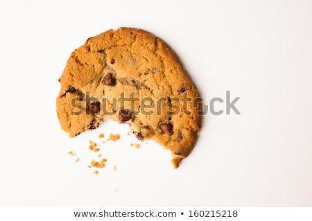 チョコレート · チップ · クッキー · かむ · 孤立した · 白 - ストックフォト © kirill_m