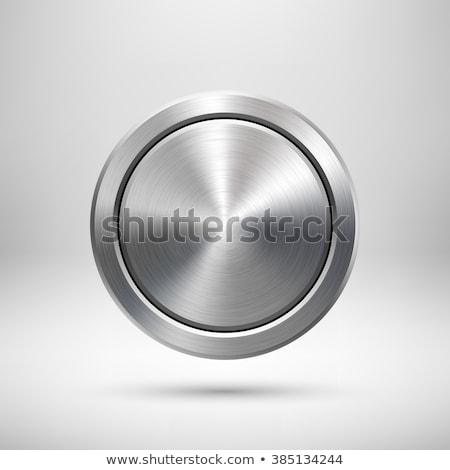 抽象的な · 技術 · 金属の質感 · ボタン · eps · 10 - ストックフォト © helenstock