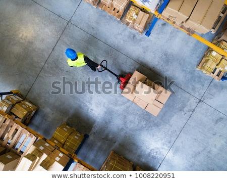 warehouse logistics   cardboard box on hand truck stock photo © tashatuvango