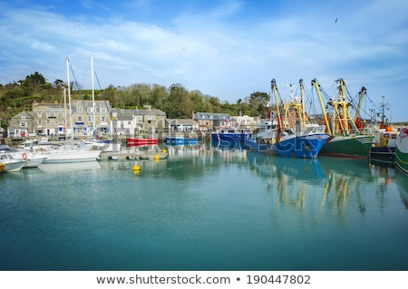 Kikötő Cornwall Anglia gyönyörű nap díszlet Stock fotó © chris2766