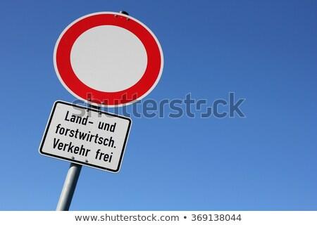 Geen verkeersbord toelage agrarisch verkeer natuur Stockfoto © meinzahn