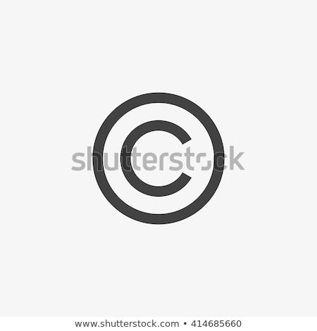 vektor · szerzői · jog · ikon · zöld · fekete · kommunikáció - stock fotó © unkreatives