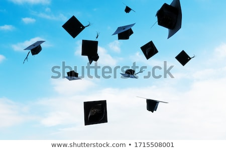 graduation caps   black mortarboards thrown in the air stock photo © istanbul2009
