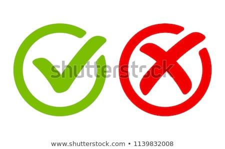 Vals teken groene knop plastic stoppen Stockfoto © kiddaikiddee