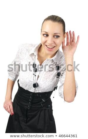 üzletasszony hallgat izolált fehér fiatal felnőtt kaukázusi Stock fotó © bmonteny