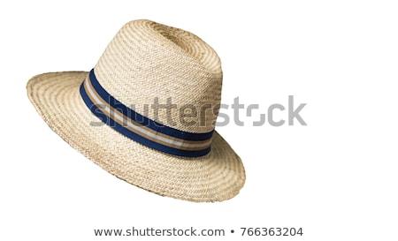Cowboy соломенной шляпе традиционный американский изолированный белый Сток-фото © stevanovicigor