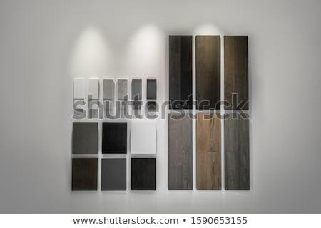 ストックフォト: 木材 · ショールーム · デザイン · ストア · 染色