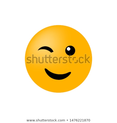 emoticon wink of an eye Stock photo © mariephoto