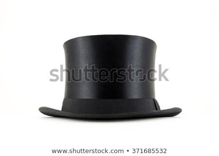 Cilindro sombrero 3d blanco moda negro Foto stock © montego