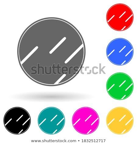 bülteni · turuncu · düğme · Internet · temas · web - stok fotoğraf © tashatuvango