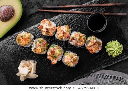 Сток-фото: суши · огурца · креветок · изолированный