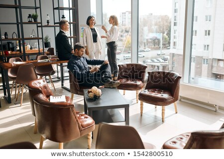 Uitvoerende salon 3D gegenereerde foto twee Stockfoto © flipfine