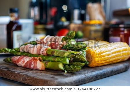 焼き アスパラガス 油 塩 唐辛子 ストックフォト © THP