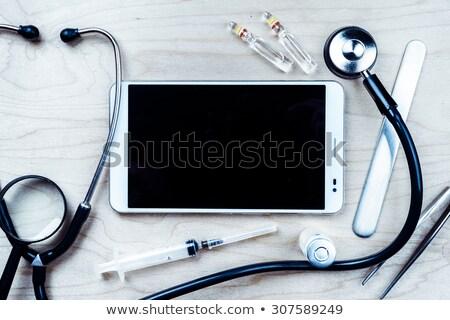 tablet on a desk   ebola stock photo © zerbor