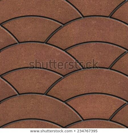 Brown Paving Slabs Laid as Semicircle. Stock photo © tashatuvango