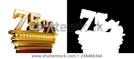 Stock photo: Seventy five percent figure over white background