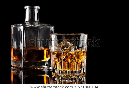 Carafe and glass of whiskey Stock photo © Givaga
