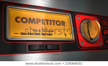 Concurrent display automaat opschrift business geld Stockfoto © tashatuvango