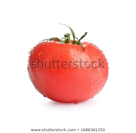 Fresco molhado tomates gotas de água vegetal isolado Foto stock © shivanetua