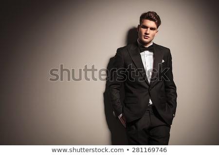 Luxurious Fashion Model in White Suit Stock photo © gromovataya