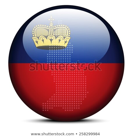 Map with Dot Pattern on flag button of  Liechtenstein Stock photo © Istanbul2009