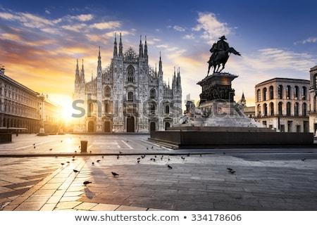 Panorama of Milan Cathedral (Duomo di Milano), Vittorio Emanuele Stock photo © anshar