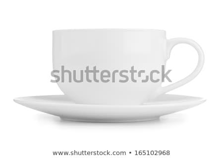Faible blanche tasse cappuccino café thé Photo stock © ozaiachin