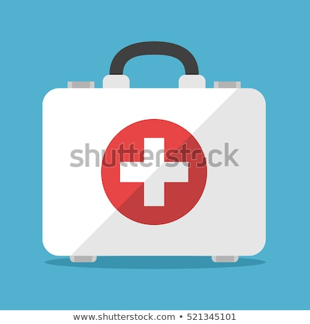 First aid bag isolated on white Stock photo © ozaiachin