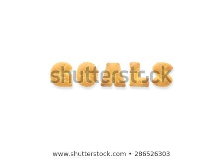 the letter word goals alphabet biscuit cracker stock photo © vinnstock
