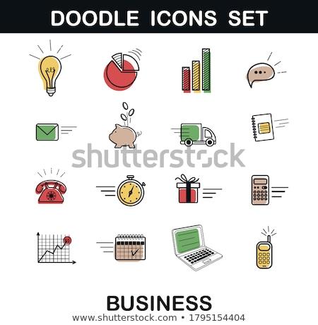 Kantoorwerk roze vector knop icon ontwerp Stockfoto © rizwanali3d