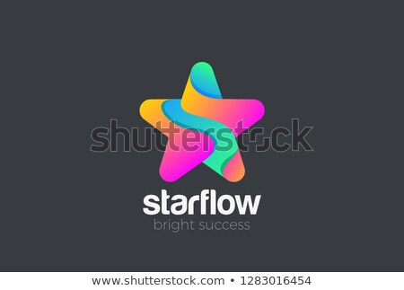 5 Star Violet Vector Icon Design Stock photo © rizwanali3d