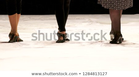 Voeten detail flamenco dansers zwarte portret Stockfoto © nenetus