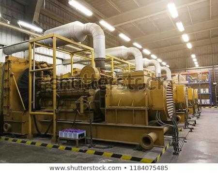 Elektrownia samochodu ciężarówka przemysłu Zdjęcia stock © stoonn