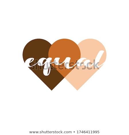 Igual amor cartão branco texto orgulho Foto stock © karenr