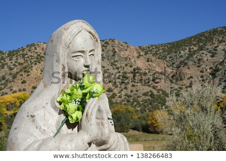 Stock photo: Statue at El Santuario de Chimayo in Chimayo, New Mexico.