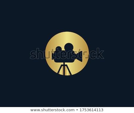 videó · citromsárga · vektor · ikon · terv · digitális - stock fotó © rizwanali3d