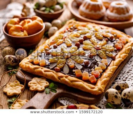 Pasen cake traditioneel hout witte Stockfoto © laciatek