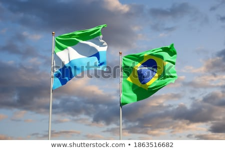 Stock photo: Brazil and Sierra Leone Flags