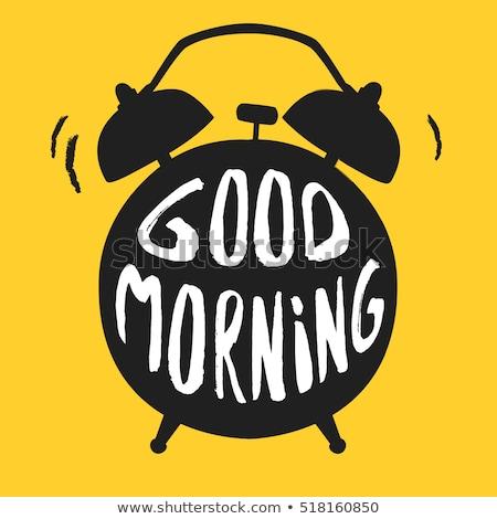 ébresztőóra citromsárga vektor ikon terv szolgáltatás digitális Stock fotó © rizwanali3d