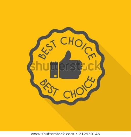 Legjobb választás citromsárga vektor ikon terv digitális Stock fotó © rizwanali3d