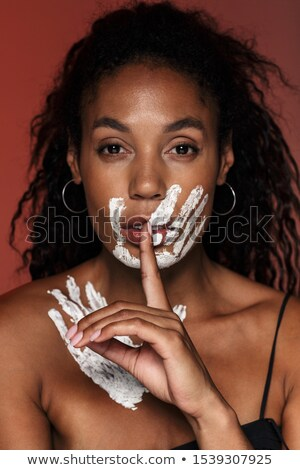 Closeup Artist draw hand gesture isolated over white Stock photo © alexmillos