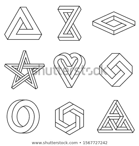 infinite heart and triangle, vector set Stock photo © beaubelle