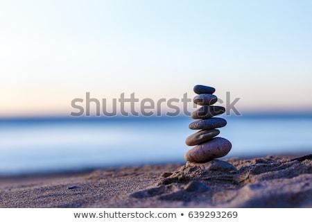 Foto stock: Mar · pedras · branco · céu · fundo