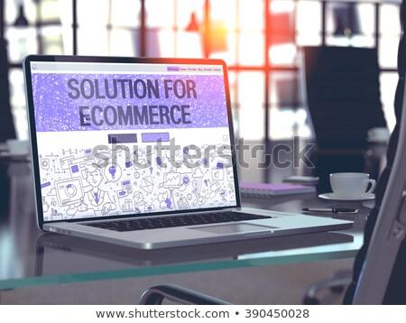 e-mail · marketing · laptop · tela · aterrissagem - foto stock © tashatuvango